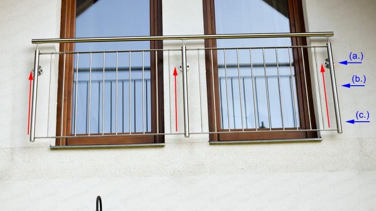 Hogyan növeld meg egy francia erkély korlát stabilitását?