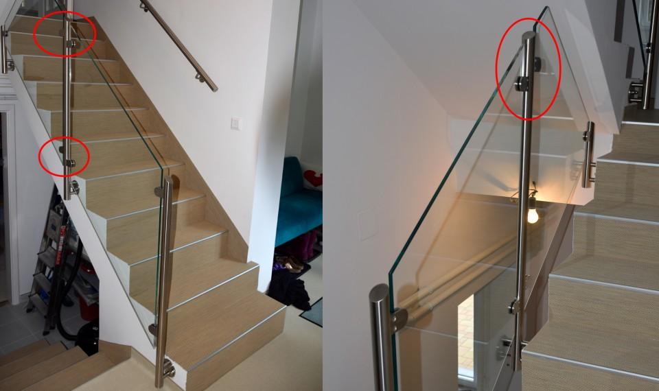 Miért kell az üvegfogó pozícióját lépcső esetében tervezni?