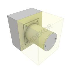 Oszlop tartó konzol függesztett előtetőhöz, 150-160mm-es szigeteléshez. (álló)