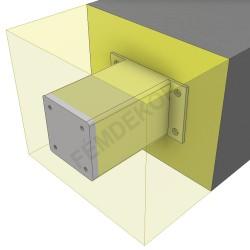 Oszlop tartó konzol 150-160mm-es szigeteléshez. (100x100mm-es)