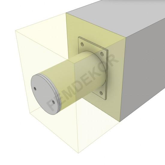 Oszlop tartó konzol 150-160mm-es szigeteléshez. (álló, 100mm-es henger)