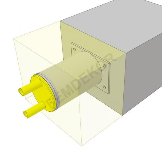 Oszlop tartó konzol 150-160mm-es szigeteléshez. (fekvő, 100mm-es henger)