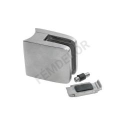 Üvegtartó csőre (52x52, rögzítőfüllel, 10mm-es üveghez)